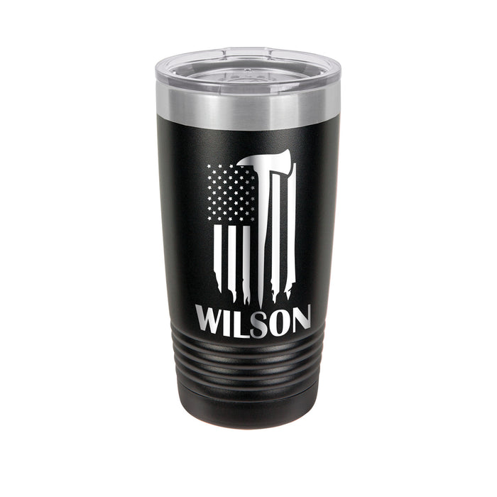 Firefighter Urban Design Personalized Engraved Insulated Stainless Steel 20 oz Tumbler - Simply Custom Life