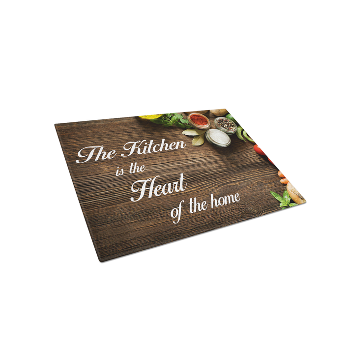 Personalized Glass Cutting Board Kitchen is Heart of Home - Simply Custom Life