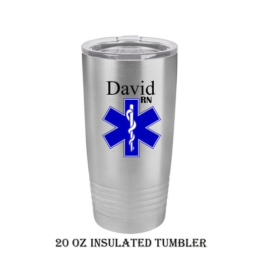 Star of Life Personalized Insulated Stainless Steel 20 oz Tumbler - Simply Custom Life