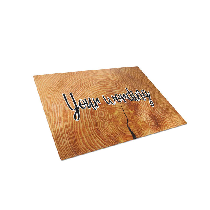 Rings of Life Tree Texture Personalized Tempered Glass Cutting Board Wedding Anniversary Gift - Simply Custom Life