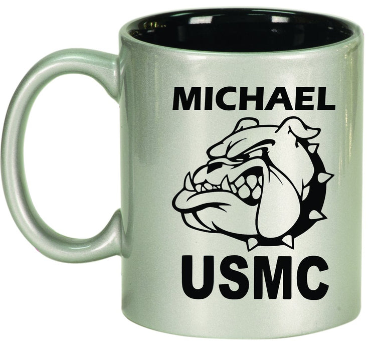 Devil Dog Personalized Engraved Ceramic 11 oz Coffee Mug - Simply Custom Life