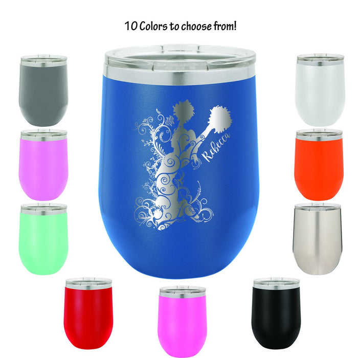 Cheerleader Personalized Engraved Insulated Stemless Stainless Steel 12 oz Tumbler - Simply Custom Life