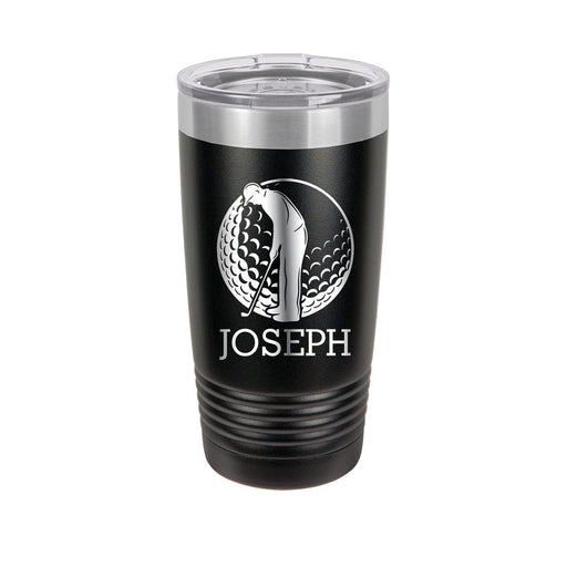 Golfer 2069 Personalized Engraved Insulated Stainless Steel 20 oz Tumbler - Simply Custom Life