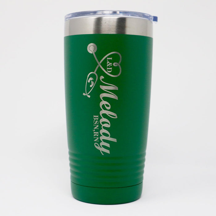 NICU PICU Nurse RN LPN CNA Personalized Engraved Insulated Stainless Steel 20 oz Tumbler - Simply Custom Life