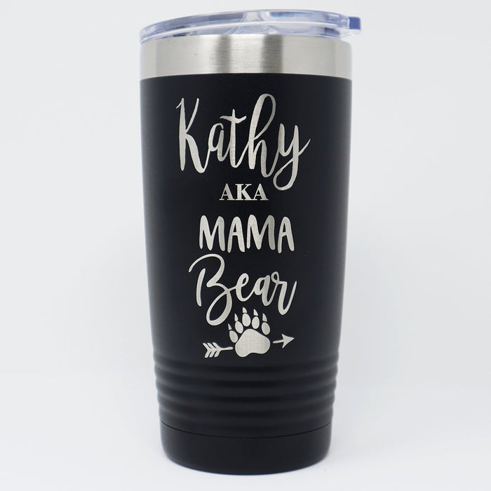 Mama Bear Personalized 20 oz Insulated Engraved Travel Tumbler - Simply Custom Life