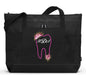 Dental Tooth Monogram with Flowers Personalized Tote 2082 - Simply Custom Life