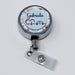 Heartbeat EKG Nurse Medical Personalized Retractable Metal Retractable Badge Reel, ID Holder - Simply Custom Life