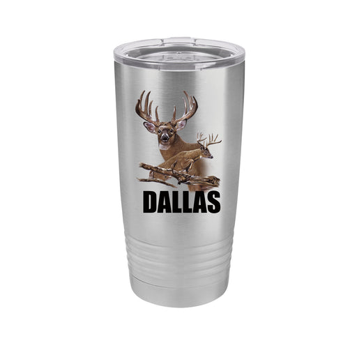 Jumping Buck Personalized UV Printed Insulated Stainless Steel 20 oz Tumbler - Simply Custom Life