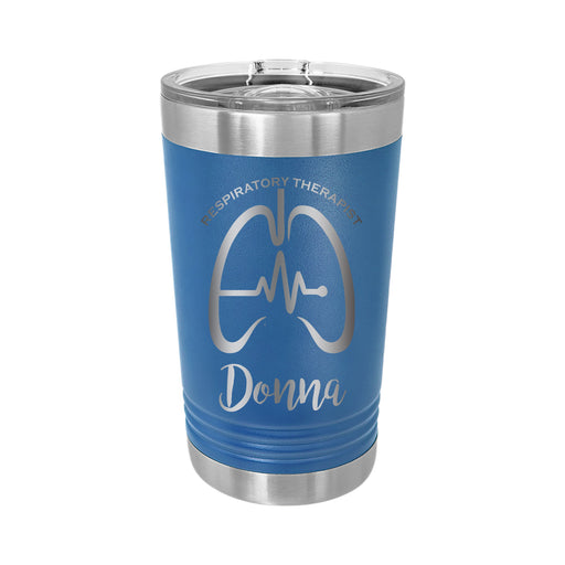 Respiratory Therapy Personalized Engraved Insulated Stainless Steel 16 oz Tumbler - Simply Custom Life