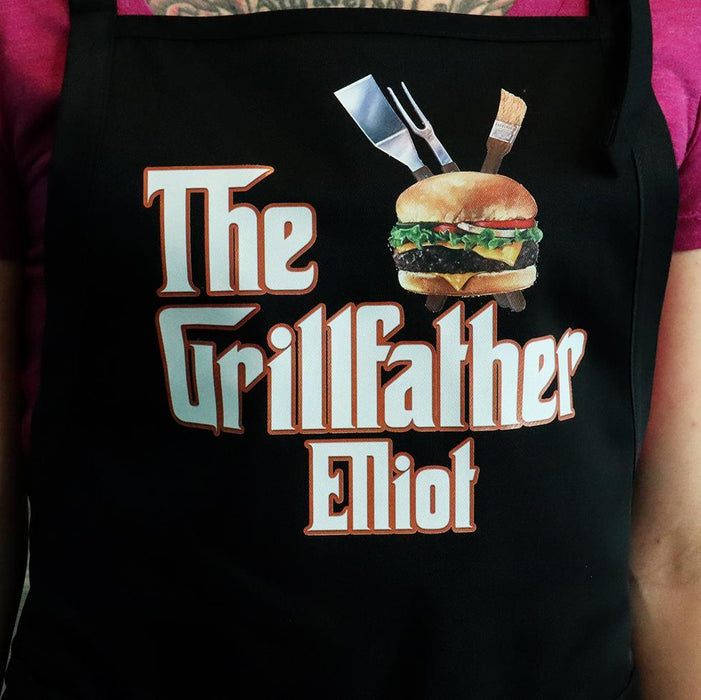 The Grillfather Personalized Men's  BBQ Apron - Simply Custom Life