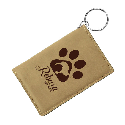 Vet Tech Engraved Keychain ID Wallet - Simply Custom Life