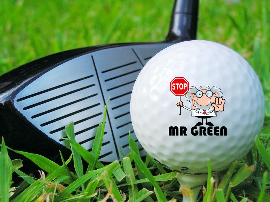 Crazy Professor Personalized Golf Balls (Set of 3 Balls)  #2198 - Simply Custom Life
