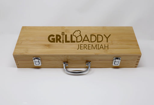 Grilldaddy Personalized  BBQ Grilling Tool Set  Engraved - Simply Custom Life