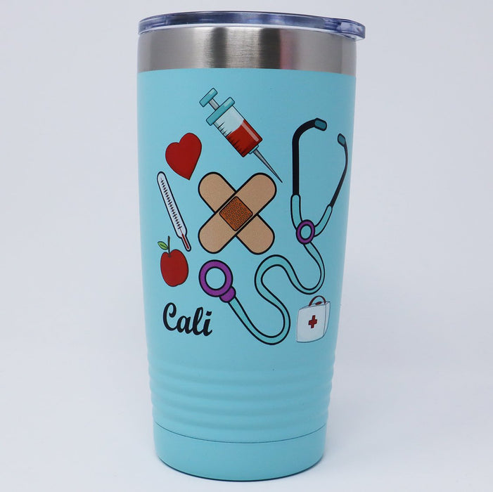 Medical Nurse Personalized 20 oz Insulated Tumbler - Simply Custom Life