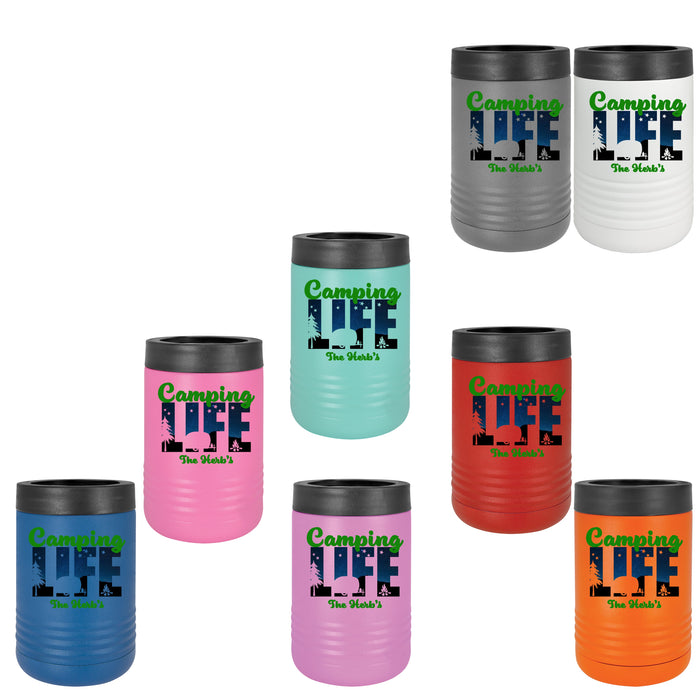 Camping Life Stainless Steel Vacuum Insulated Beverage Holder for Cans and Bottles, 11 colors - Simply Custom Life
