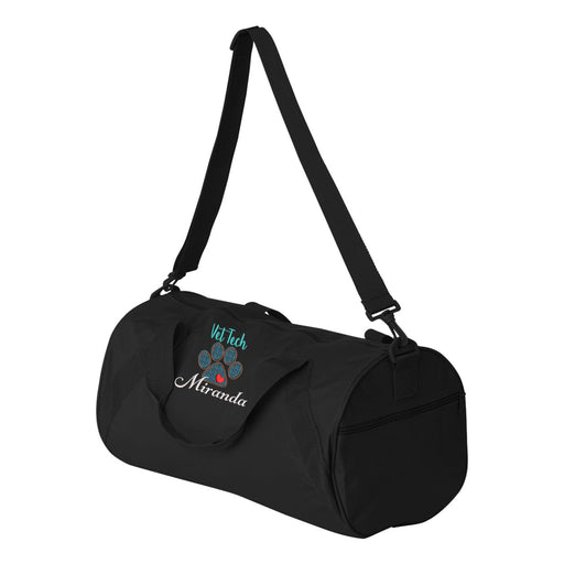 Paw Print Vet Tech Personalized Embroidered Duffel Bag - Simply Custom Life