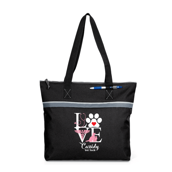 Love Vet Tech Personalized Printed Small Tote - Simply Custom Life