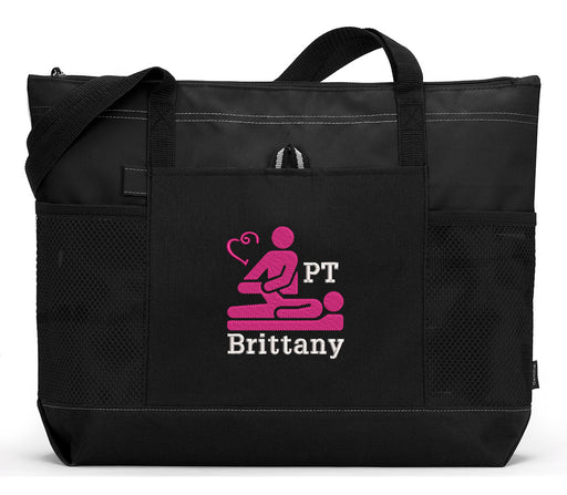 Physical Therapist Personalized Embroidered Tote Bag - Simply Custom Life