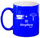 Coffee + Caduceus Medical Personalized Engraved Ceramic 11 oz Coffee Mug - Simply Custom Life