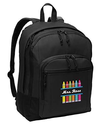Crayons Personalized Embroidered Teacher Backpack - Simply Custom Life