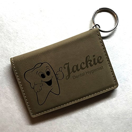 Dental Hygienist / Assistant Personalized Keychain ID Wallet - Simply Custom Life