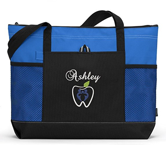 Dental Themed Personalized Embroidered Tote - Simply Custom Life
