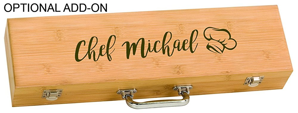 Chef Name Grilling Tool Set Personalized Engraved - Simply Custom Life