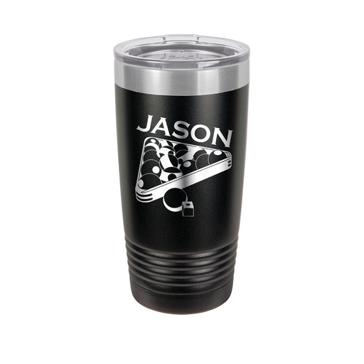 Billiards Personalized Engraved Insulated Stainless Steel 20 oz Tumbler - Simply Custom Life