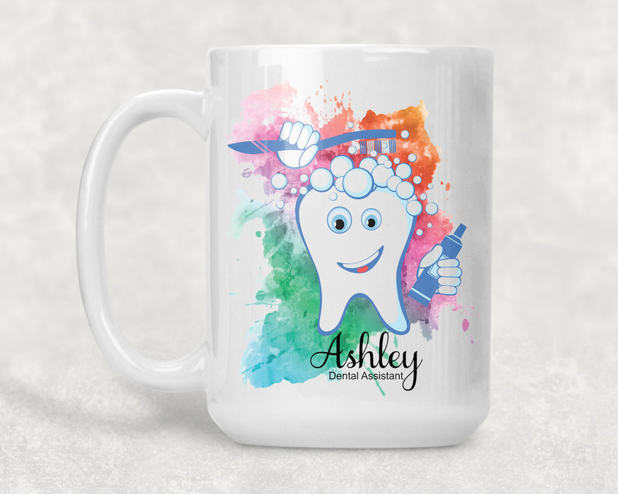 Dental Hygienist 2 / Assistant / Dentist Personalized 15 oz Ceramic Coffee Mug - Simply Custom Life