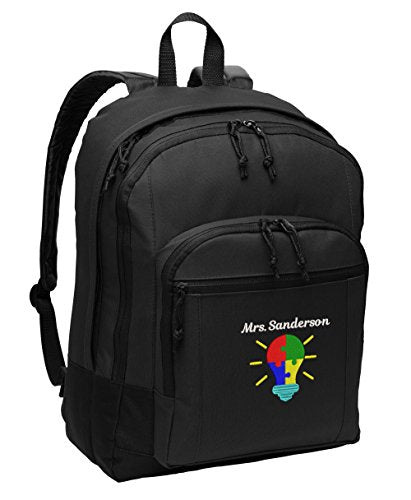 Autism Bright Ideas Personalized Embroidered Back Pack - Simply Custom Life