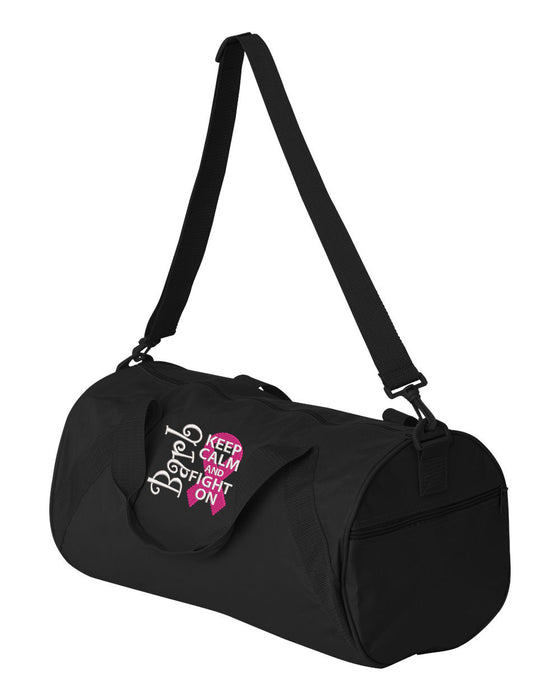 Breast Cancer Awareness Personalized Embroidered Duffle Bag - Simply Custom Life