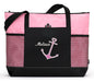 Anchor Heart Beach/Boat Personalized Embroidered Tote - Simply Custom Life