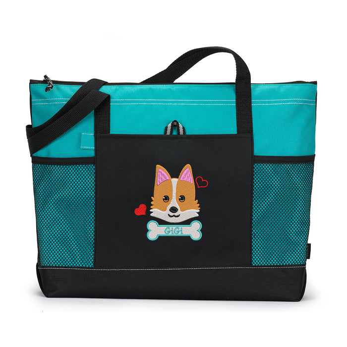 Corgi Personalized Embroidered Tote Pet Gear Travel Bag - Simply Custom Life