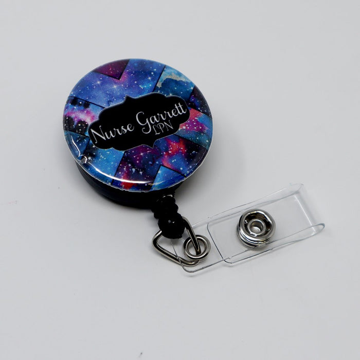Galaxy 1856 Personalized Retractable Badge Reel, ID Holder - Simply Custom Life