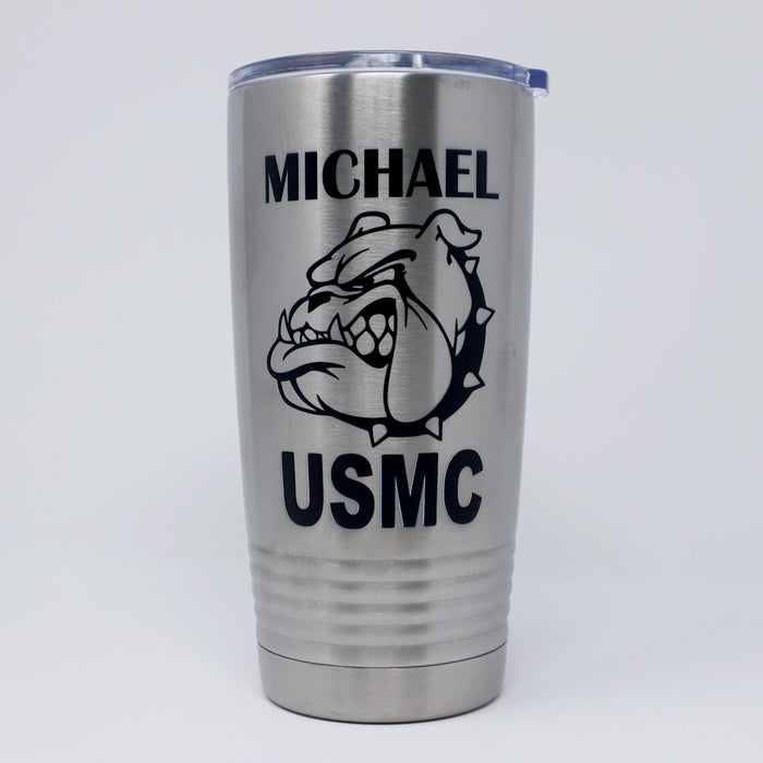 Devil Dog Personalized Engraved Insulated Stainless Steel 20 oz Tumbler - Simply Custom Life