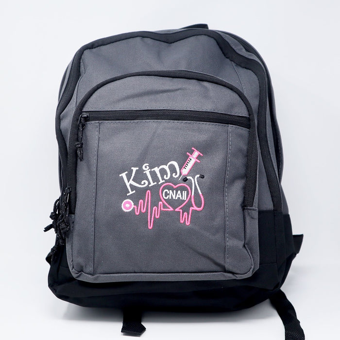Nurse 3 Personalized Embroidered RN LPN CMA EMT Backpack - Simply Custom Life