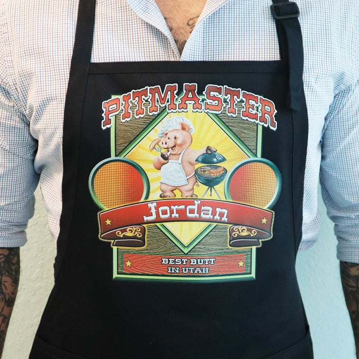 Pitmaster Personalized Men's  BBQ Apron - Simply Custom Life