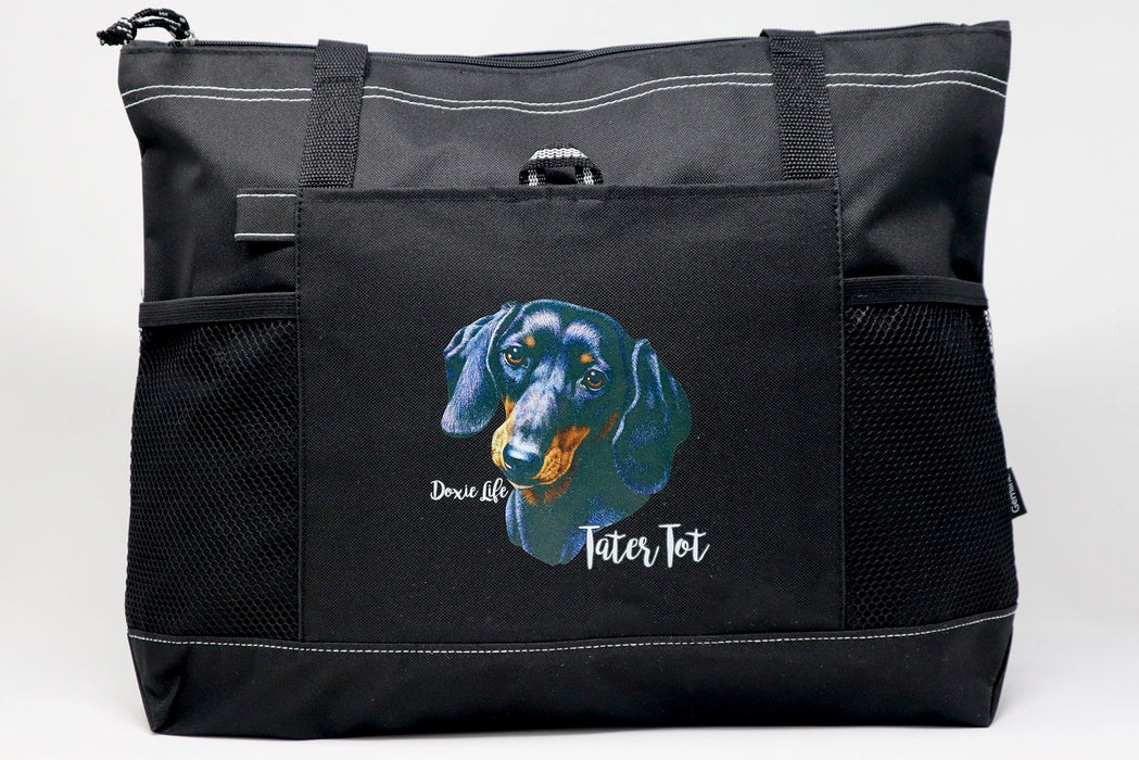 Doxie Life Personalized Custom Tote Bag for Dog Lover 1957-01HT - Simply Custom Life