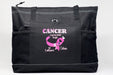 Cancer May Have Started the Fight Personalized Breast Cancer Tote Bag with Mesh Pockets - Simply Custom Life