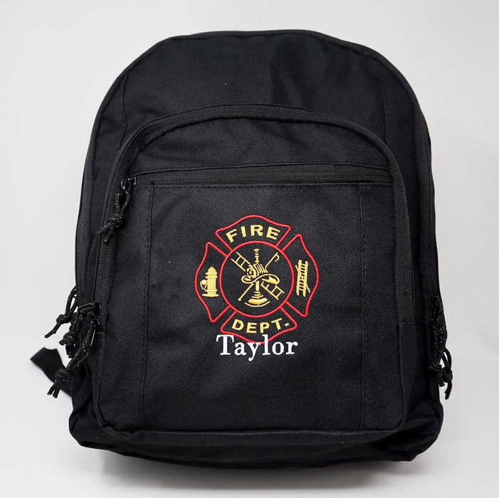 Firefighter Personalized Embroidered Backpack - Simply Custom Life