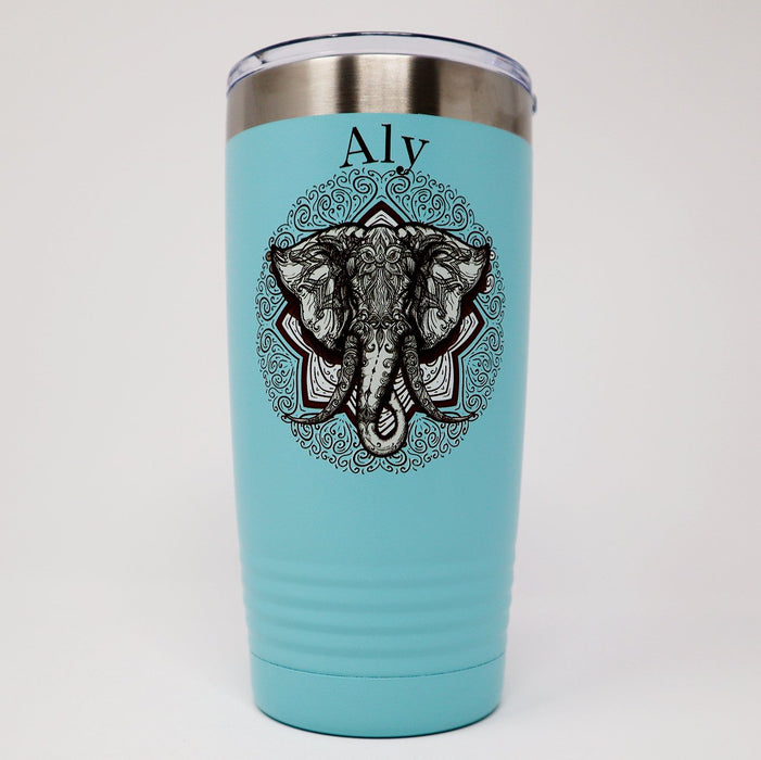 Elephant Personalized 20 oz Insulated Tumbler - Simply Custom Life