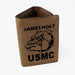 Devil Dog USMC Light Brown Personalized Leatherette Trifold Wallet - Simply Custom Life