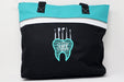 Dental Tooth with Tools Embroidered Personalized Small Beach Tote - Simply Custom Life