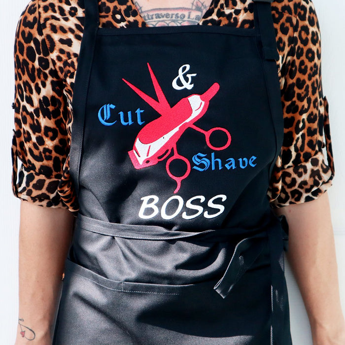 Cut & Shave Barber Personalized Embroidered Apron - Simply Custom Life
