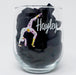 Back Bend Floral Gymnast Personalized UV Printed Stemless Wine Glass, Gift for Her, Gymnastics - Simply Custom Life