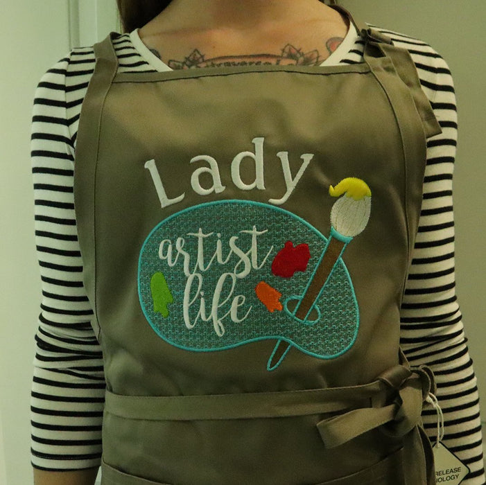 Artist Life Unisex Personalized Art Teacher Embroidered Apron - Simply Custom Life
