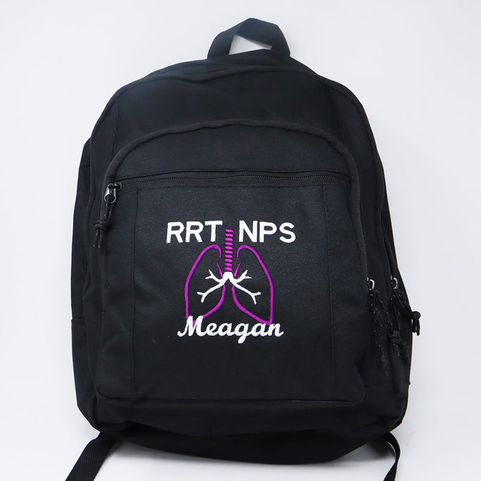Respiratory Therapist Personalized Embroidered Backpack - Simply Custom Life