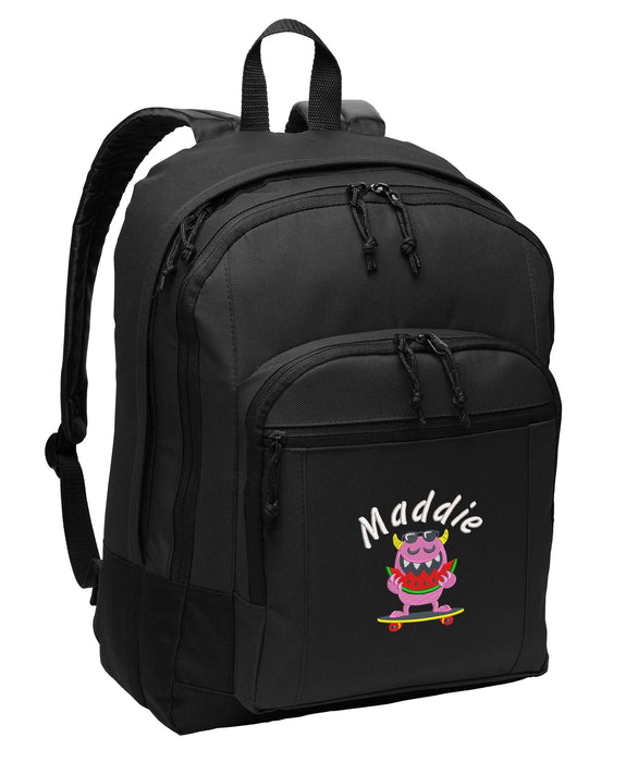 Summer Monster Personalized Embroidered Backpack - Simply Custom Life
