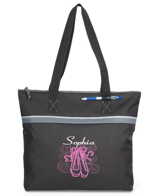 En Pointe Ballerina Personalized Embroidered Small Tote - Simply Custom Life