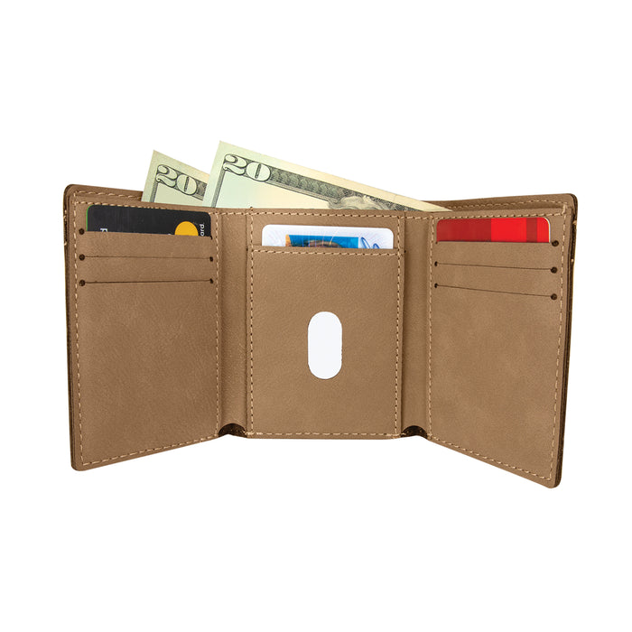 Pharmacy Student Drug Dealer in Training Light Brown Personalized Leatherette Trifold Wallet - Simply Custom Life